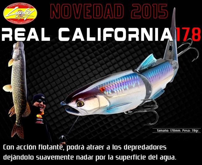 Desde Lucky Craft nos llegan novedades para 2015, el Real California 178